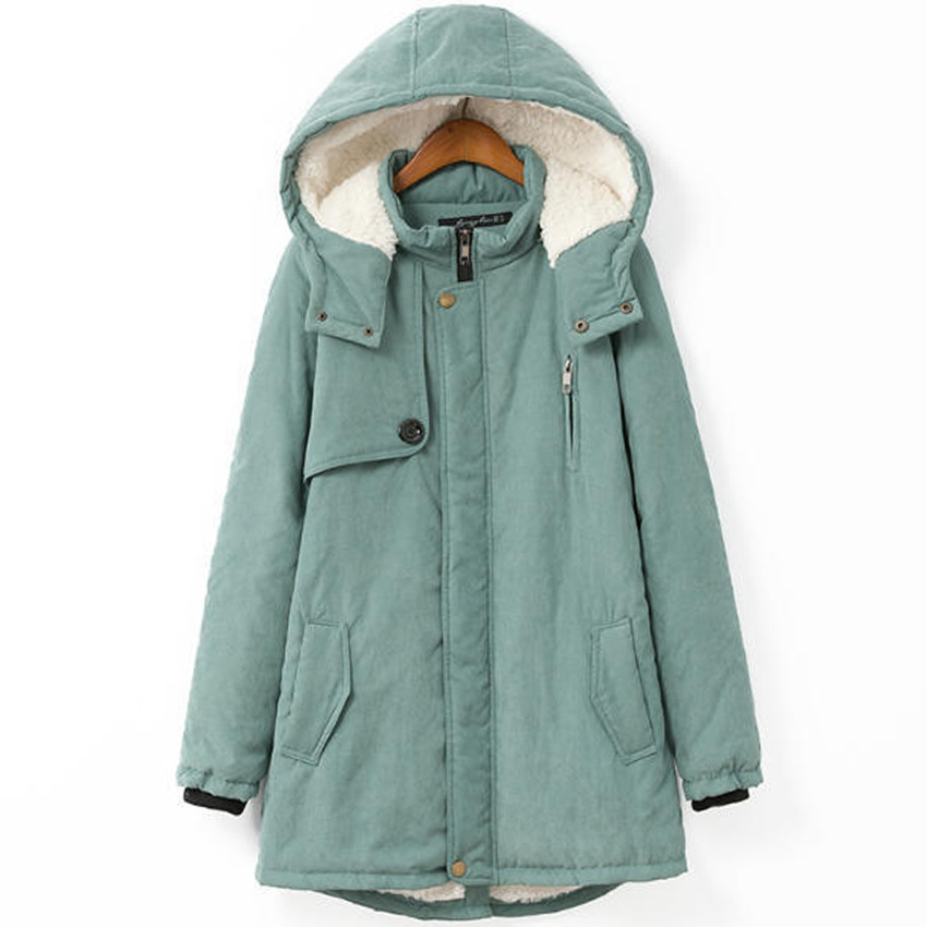 2015 Winter Coat Women Thicken Parka With Inside Fur Womens Winter Jackets Hooded Coats Xl-4xl Plus Size Clothes Zipper Opening