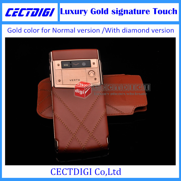 Latest Luxury phone gold Signature Touch 4G LTE Octa core MTK 6592 Android 4.4.2 32G ROM 13MP camera diamond version VIP phone(China (Mainland))