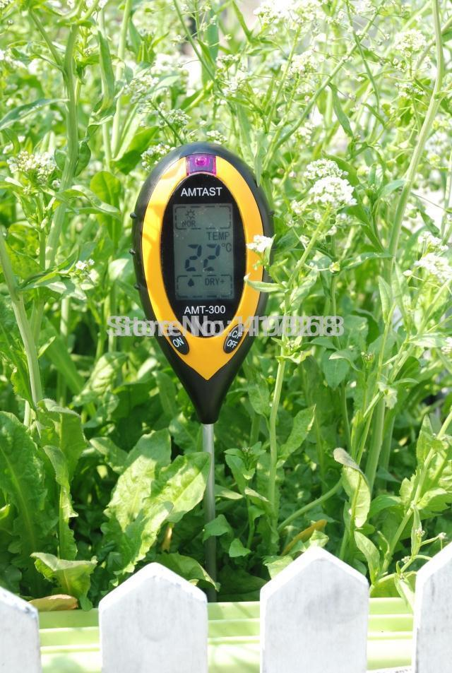 New AMT-300 4 in 1 Digital pH Meter measure Soil PH/Temperature / Moisture / Sunlight Tester with Backlight(English user manual)<br><br>Aliexpress