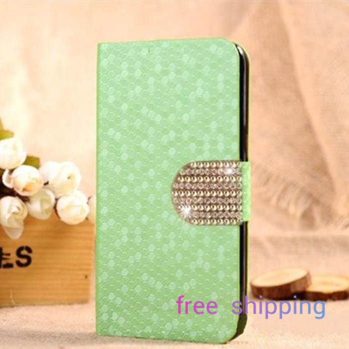 For LT18i Sony Ericsson Xperia Arc S Hot Sale New Luxurious Diamond Grain/Pattern Wallet Style Flip Stand Wallet(China (Mainland))