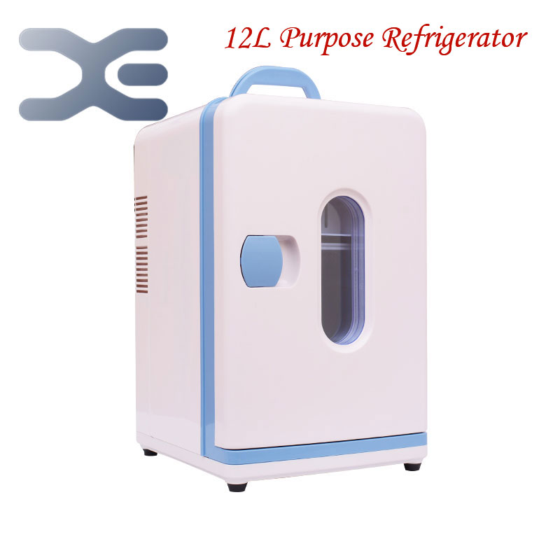 High Quality Mini Nevera Home Dormitory Refrigerator Cold-Hot Dual Purpose Refrigerator Portable Fridge Free Shipping(China (Mainland))