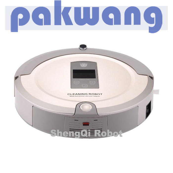 The Newest And Best 4 In 1 Multifunctional Robot Vacuum Cleaner,2-way virtual wall,bidon(China (Mainland))