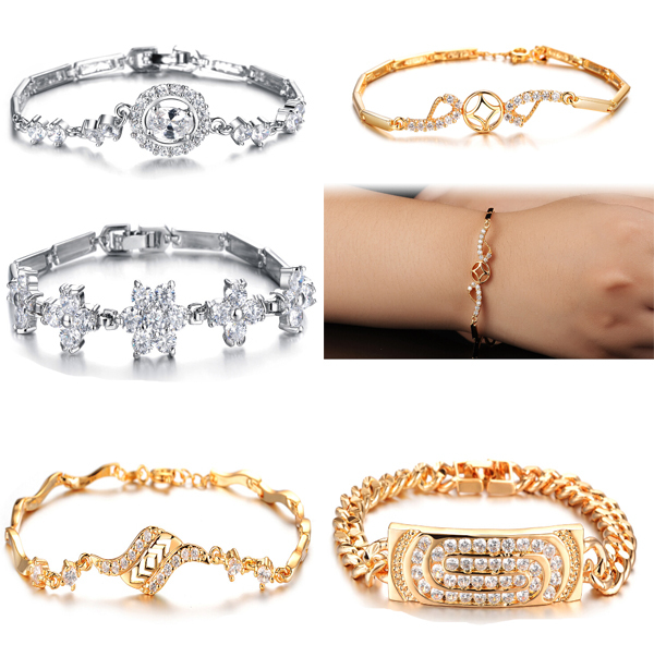 produto Fashion exquisite gift bracelets for women inlaid zircon gold-plated pulseiras femininas world of warcraft www alibaba com