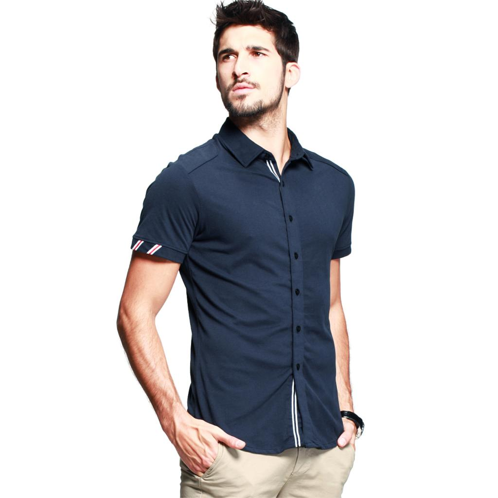 Mens Slim Short Sleeve Shirts | Is Shirt