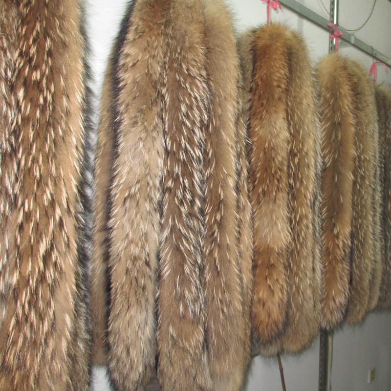 Гаджет  Real Raccoon Fur Collar  Womens 100% Natural Fur Collar 80cm Long 13cm Width Thick Real Fur Shawl Raccoon collar Fur None Одежда и аксессуары