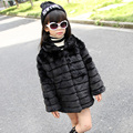 Classic White Black Girls Fur Jacket Brand High Quality Winter Faux Fur Coat European Style Kids