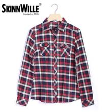 Skimmwille 2016 Демисезонная клечатая рубашка с длинными рукавами натуральный хлопок женская модель зимняя рубашка теплая(China (Mainland))