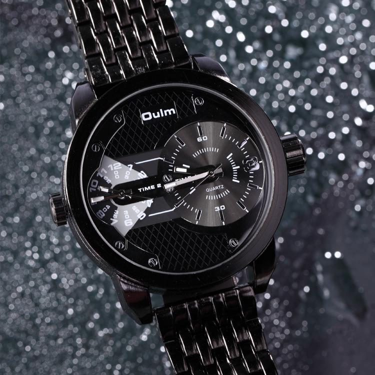 Luxury Men Full Steel Watch Oulm Brand Mens Quartz Watches Male Casual Clock Military Watch Men