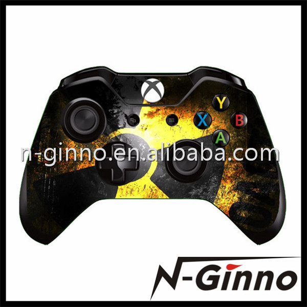 Free Shipping 1 Piece Evil Umbrella Design Skin Stickers For Xbox One Controller(China (Mainland))