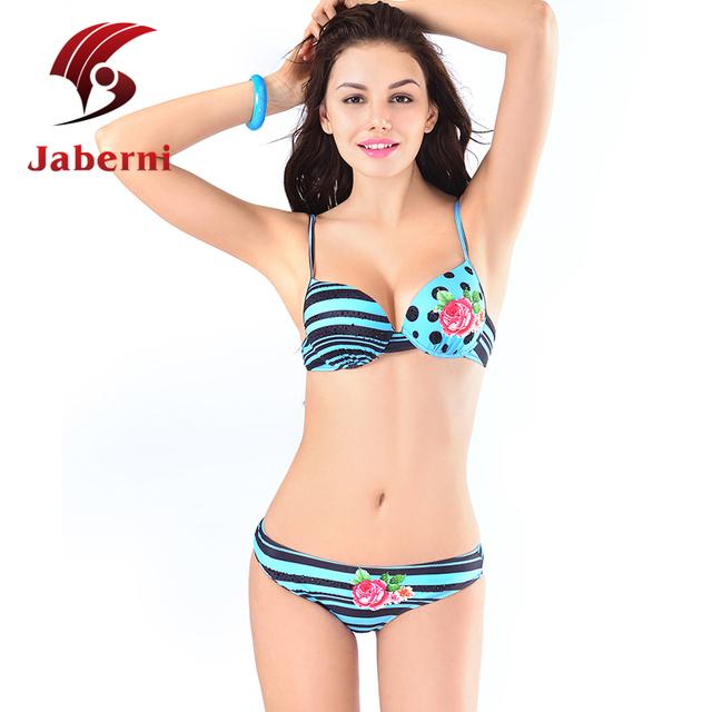 Женщины горошек купальник досуг свободного покроя пляж милые бикини воды цвет синий росту Pin Up девушки