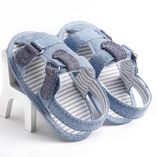 New Fashion Summer Denim Blue Baby Boys&Gilrs Sandals & Clogs W Flat Soft Infant Toddler Kid Girls Sandals Baby shoes 0-18months(China (Mainland))