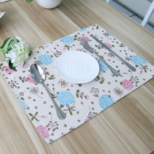 New arrival Korean style mat Hyacinth Pattern placemat kitchen accessories dinner plates home decor dustproof coaster LRLT056