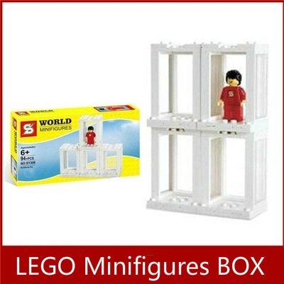 SY306 LEGO Storage Box Minifigures Display Box with 4 Lattice for Super Hero Star Wars Bricks Toy Collection Compatible DECOOL(China (Mainland))