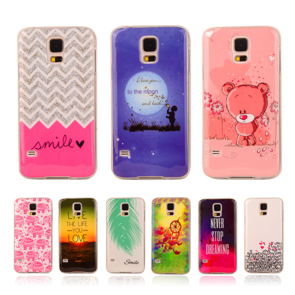 Cartoon Rubber Case For Samsung Galaxy S5 SV I9600 S 5 G900F G900H Soft Plastic Printing Cover Silicon Gel Protective Phone Case(China (Mainland))