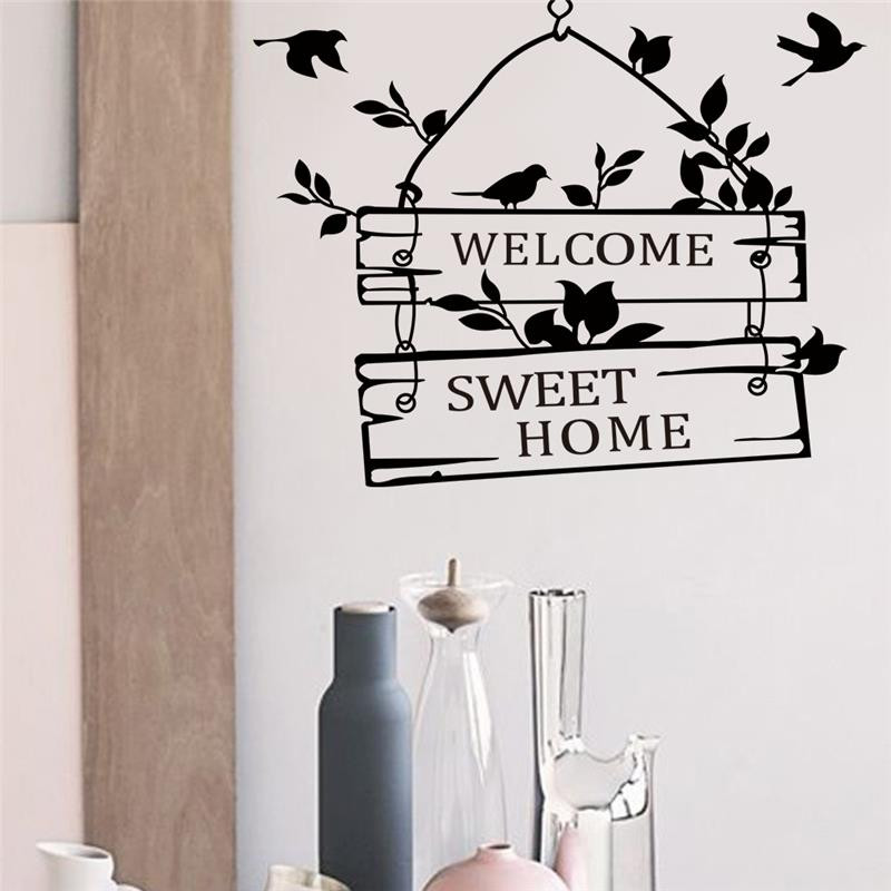 welcome to our home 3 styles Wall Decals Quote Decorations Living Room Sticker Bedroom Wall stickers wedding Decoration muralart(China (Mainland))