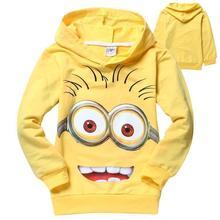 New 2015 outwear despicable me minion boys hoodies girls nova sweatshirts kids children hoodies Autume Spring
