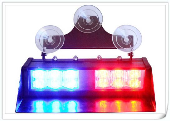Бесплатная доставка! Высокое качество DC12V, 12 Вт Led Лобовое Стекло автомобиля даш свет, аварийного вспышка света, строб предупредительный световой сигнал, 18 flash, водонепроницаемый