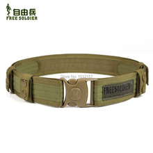 Outdoor camping tactical belt  Brand New military accessories men tactical Army Belt Color:Black/Mud Size:142CM*5CM
