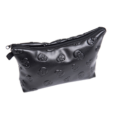 makeup bag black skull leather 3D Printing Zohra Fashion New travel organizer 2016 Hot Now cosmetic bag trousse de maquillage