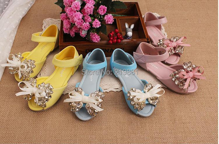 Girls new bow princess sandals , kids girls shoes , 5pcs/lot    ZYL24<br>