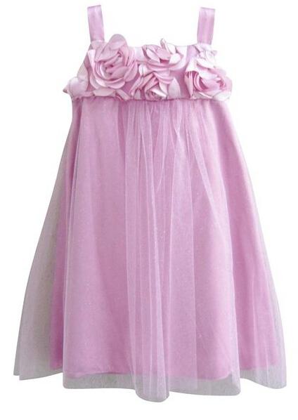 2014 new flower girl dresses for weddings, handmade flowers straight and knee length party dress<br><br>Aliexpress