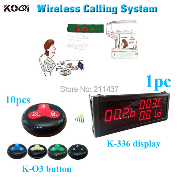 Customers paging system 1pc wireless receiver can show 3 numbers at the same time and 10 buttons CALL BILL CANCEL DHL free ship(China (Mainland))