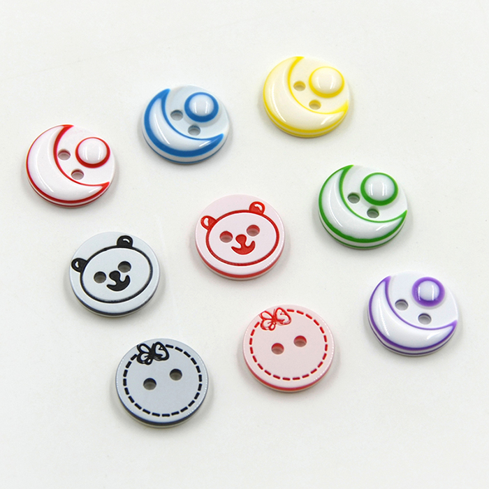 Colorful candy cartoon smiley eyes resin button shirt button DIY button's handmade products 9pcs/Lot Remark color and size(China (Mainland))
