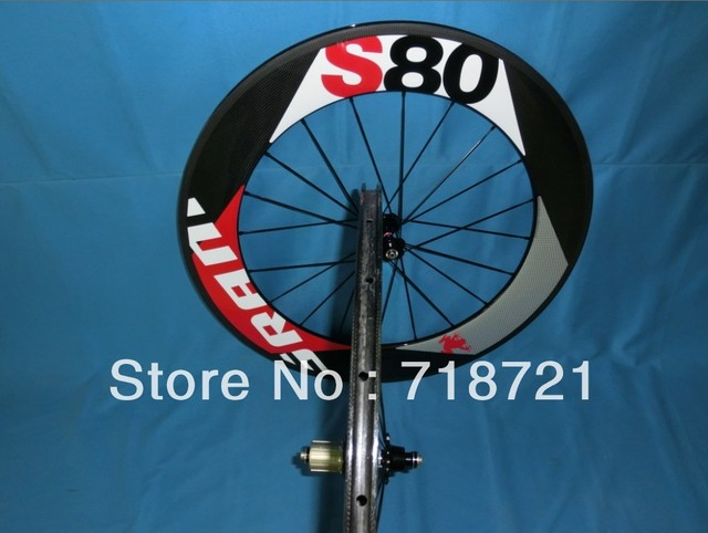 wholesale-sram s80 carbon clincher/tubular 88mm&carbon wheelset tubular/clincher&3k glossy/matte finishing