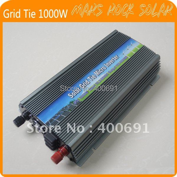 Grid Tie 1000W Pure Sine Wave Solar Inverter for 18V 1250W PV Power, 10.5V~28VDC, 90V-140V/180V~260VAC, 50Hz-60Hz, Free shipping(China (Mainland))