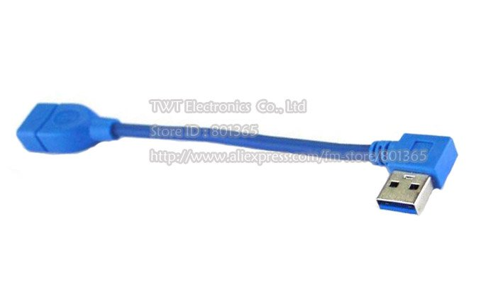 Free shipping USB 3.0 A Female To Male 90 Degrees Right Angle Extension Cable ,right angle USB3.0 extension cable right angle(China (Mainland))
