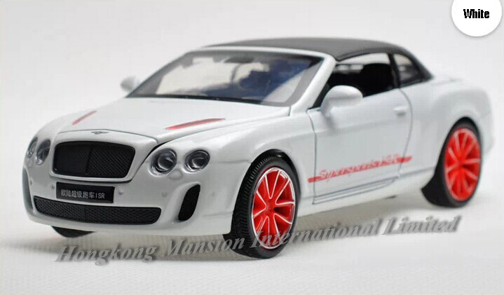 1:32 Scale Alloy Diecast Car Model For Bentley Continental Supersports ISR Collection Pull Back Car With Sound&Light - With Hood(China (Mainland))