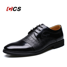 Crocodile Pattern Genuine Leather Oxford Shoes,Men's Luxury Brand Fashion Lace Up Flat, Black/Brown Business Wedding Dress CCS(China (Mainland))