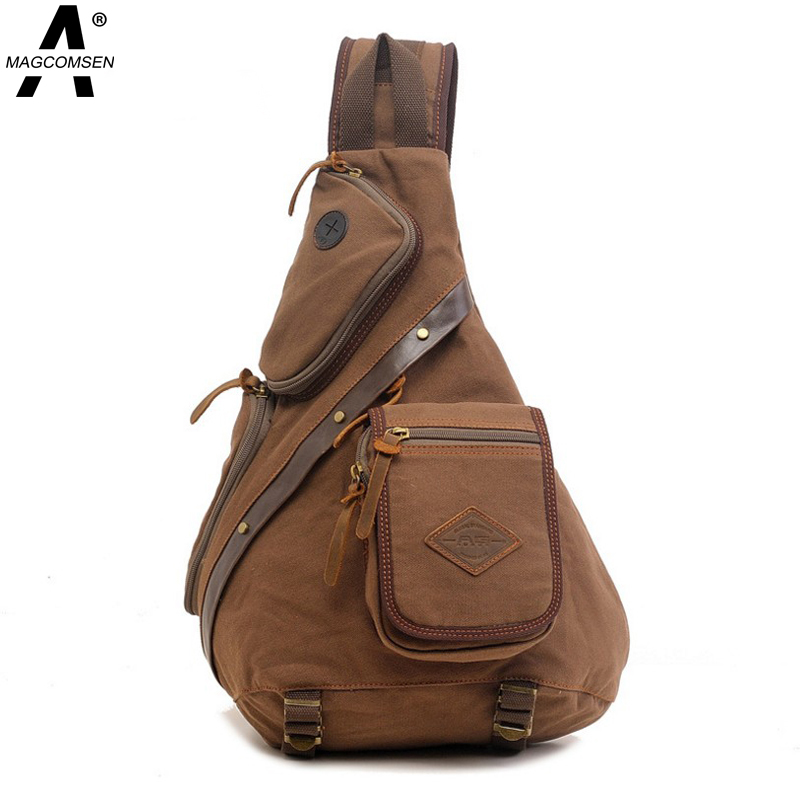2016 Casual Men's Chest Pack Bag Sports Canvas Bags Multifunctional Outdoor Small Male Messenger Bag Shoulder Bag AG-GZAG-08(China (Mainland))
