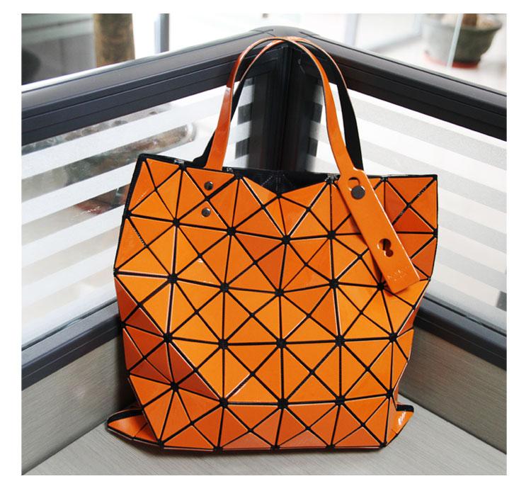 2015 Hot Fashion Top Top Quality Same As BAOBAO (1:1)Women's Lattice Geometry Quilted Handbag Geometric Mosaic Totes Bag6*6