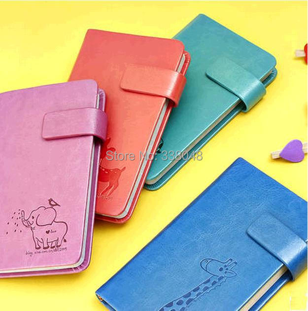 2015 Fashion Cute creative school stationary portable mini notebook PU leather printed paper book pocket diary - Jane Pan's store