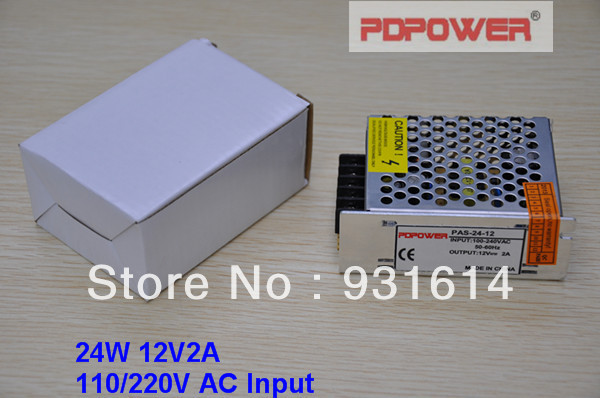 24W 12V2A AC/DC enclosed switching mode power supply, single output, CE/RoHS/FCC/IEC, 2-year warranty - PDPower Technology Ltd. store