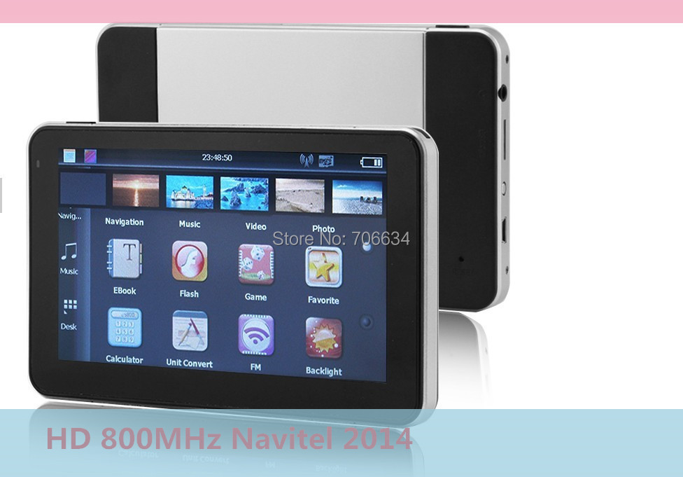 5 Inch HD car GPS Navigation System Built-in 4GB 800MHz 128MDDR Navitel 8.5 RU,BY,UA,KZ primo for EU /US/AU MAP(China (Mainland))