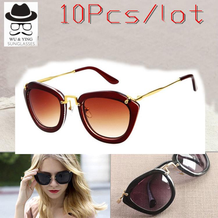 10PCS/LOT 2015 New Coating Sunglass Women Stainless Steel High Quality New Vintage Sunglasses Women Super Brand gafas oculos de(China (Mainland))
