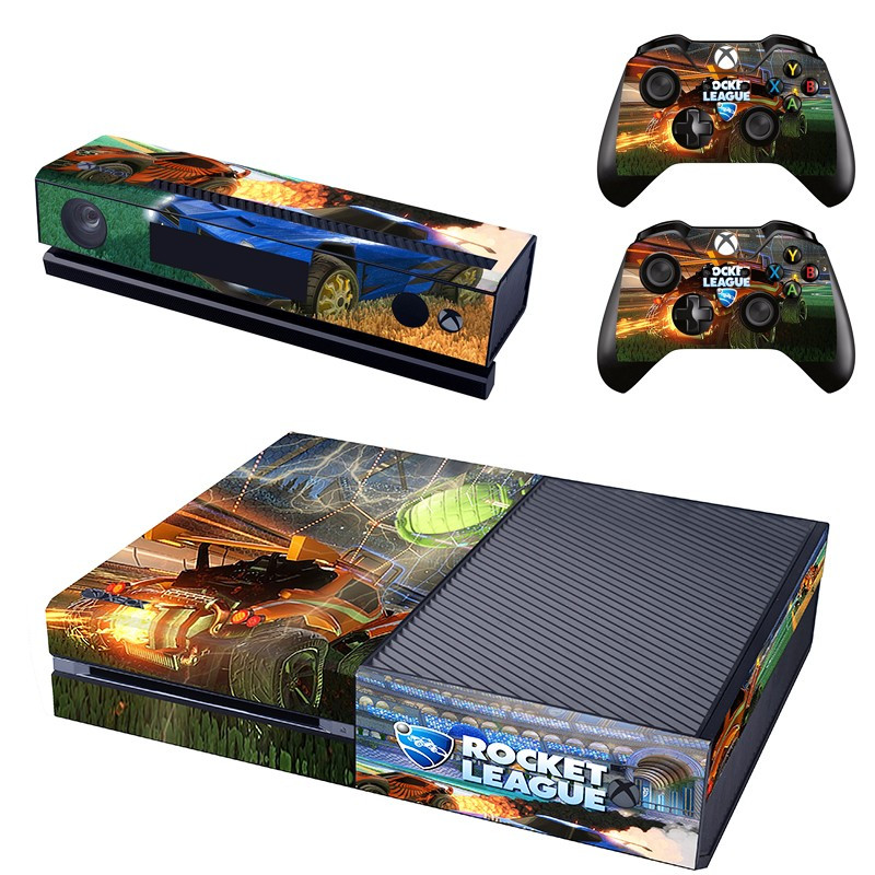 Rocket League Skin Sticker Decal For Microsoft Xbox One Console and Kinect and 2 Controllers Stickers Accessory