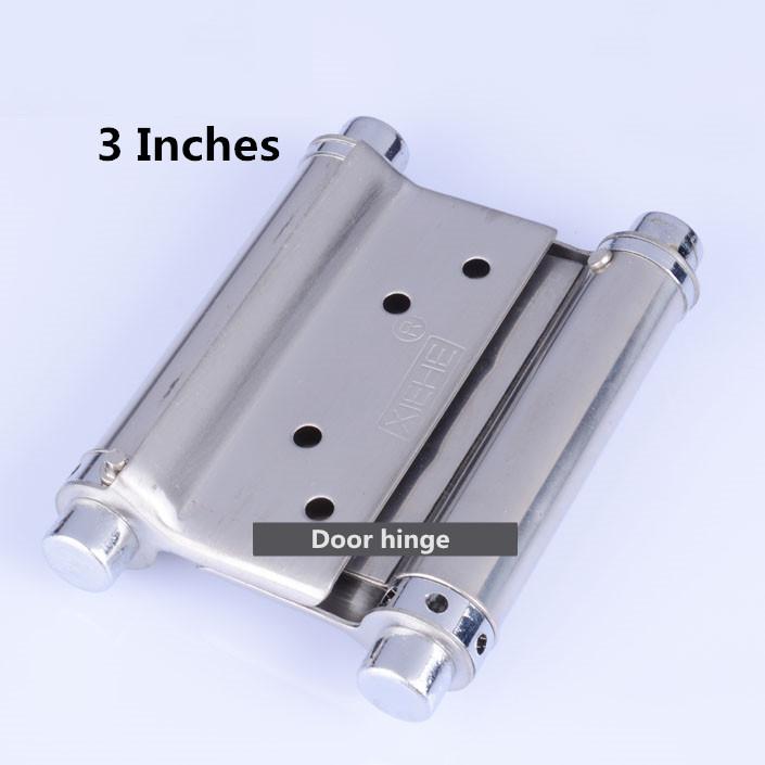 3inches Stainless steel door hinge gate hinge door fittings two sides open hinge Spring hinge(China (Mainland))