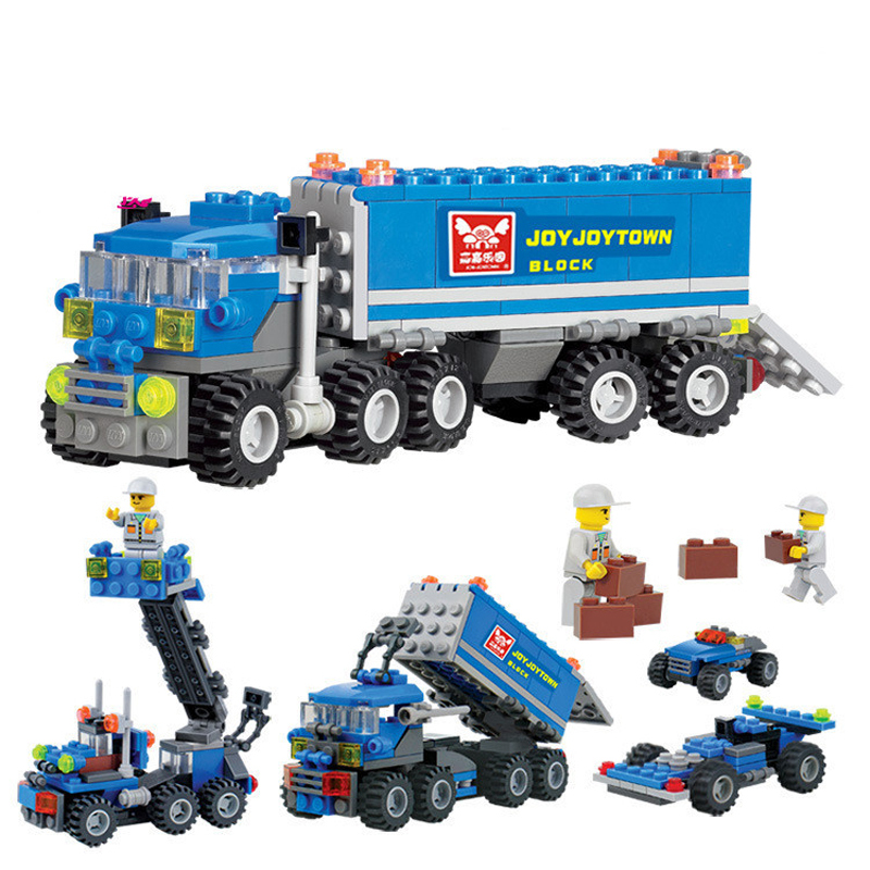 Kids gift Enlighten Child educational toys Dumper Truck DIY toys Building Block Sets Compatible with Lego Children Toys(China (Mainland))