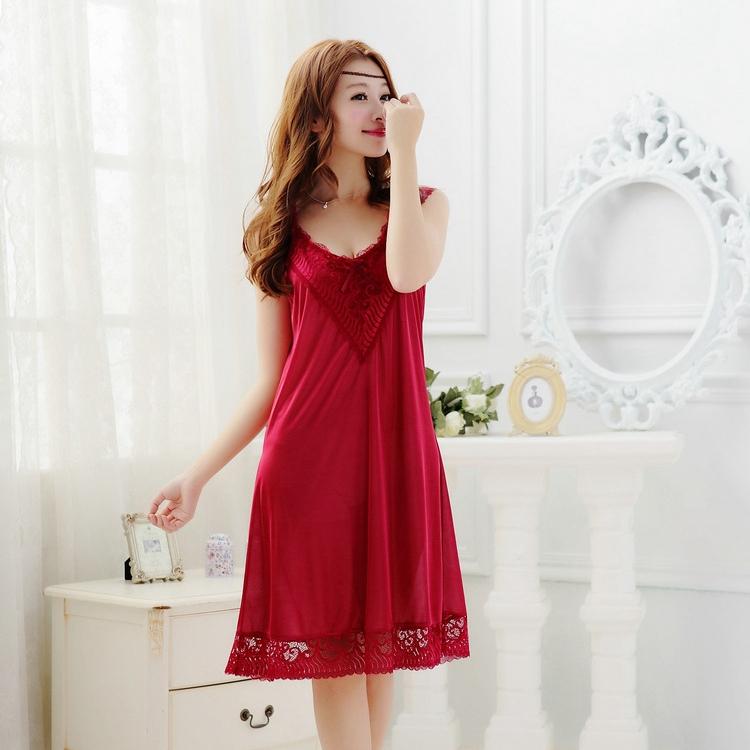 sexy silk nighties women nightwear for women long ...