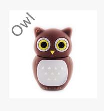 Cute Owl USB 2.0 Flash Drives External Storage Pendrives 64GB 32GB 16GB 8GB 4GB 2GB Children Gift
