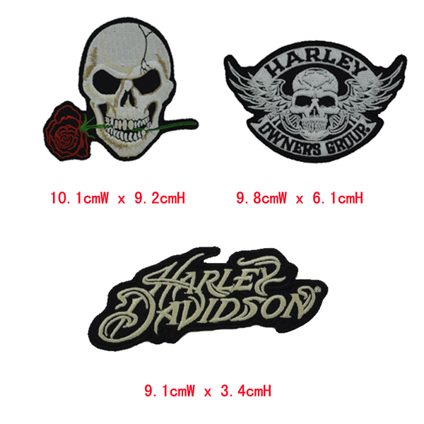 Brazil Patches Embroidery patches Skull&Eagle&Harley /Lot clothes iron backing - A-ONE Patch store