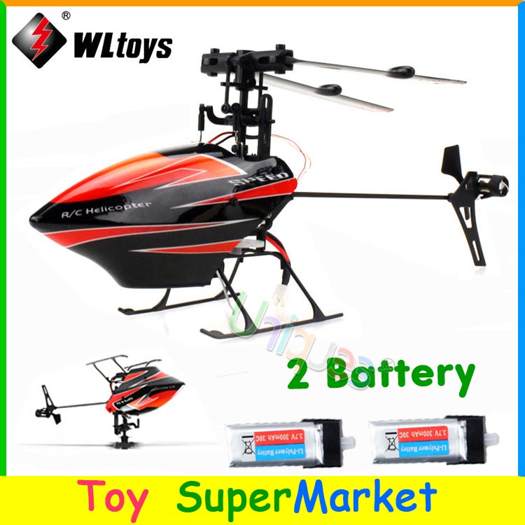 With 2 Battery WLtoys V922 RC Remote Control Helicopter 6CH 3D 6-Axis Gyro Single Blade 2.4GHz Radio 2014 New Electronic Toys(China (Mainland))