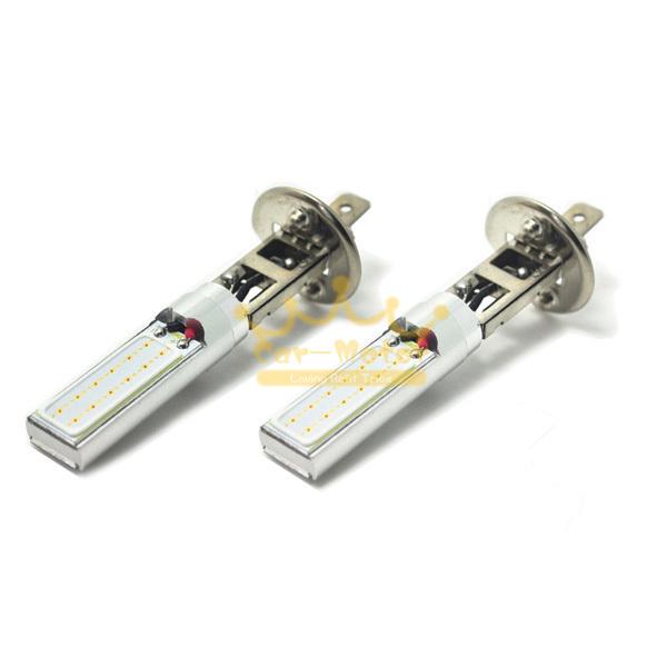2x 12W 3000K H1 Amber COB Fog Light DRL Daytime Running Lamps LED Light 0083(China (Mainland))