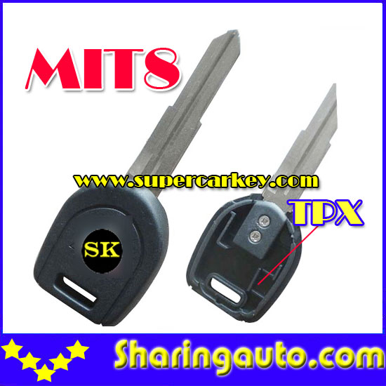 Free shipping Transponder Key Mit8 Blade For TPX Chip for Mitsubishi 10pcs/lot<br><br>Aliexpress