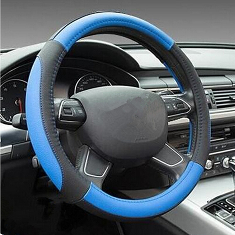 38cm Trend Odorless Leather Steering Wheel Cover For Vw Golf 4 5 6 Polo Passat Gol Bore Jetta MK7 CC Tiguan Beetle and other(China (Mainland))