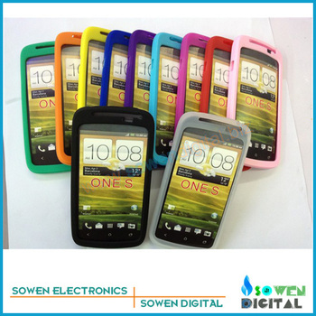 for HTC One S Silicon Rubber Case cover protective casing,10pcs/lot best quality +Free shipping