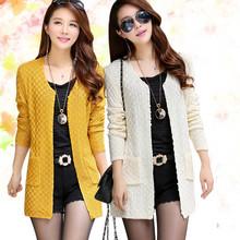 Women Sweater Long Cardigan 2015 Fashion Summer Style Long Sleeve Thin Knitted Cardigan  female Sweaters  Free Shipping (China (Mainland))